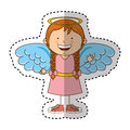 Little girl angel character