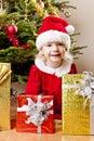 Little girl as Santa Claus Stock Photography