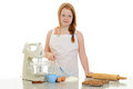 Little girl baking Royalty Free Stock Photo