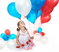 Little girl with balloons. Stock Photography