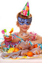 Little girl on birthday party Royalty Free Stock Photos