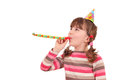 Little girl birthday party beautiful Stock Image