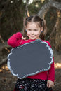 Little Girl with Black Board Royalty Free Stock Photo