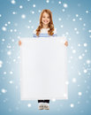 Little girl with blank white board Stock Photo