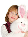 Little girl with bunny Royalty Free Stock Photos