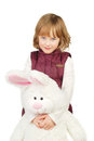Little girl with bunny Stock Photo