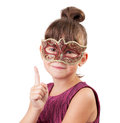 Little girl in a carnival mask Royalty Free Stock Images