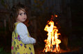 Little girl celebrate Lag Ba'Omer Jewish Holiday Royalty Free Stock Photo