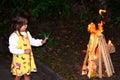 Little girl celebrate Lag Ba'Omer Jewish Holiday Royalty Free Stock Photo