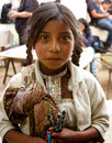 Little girl in Chiapas, Mexico Royalty Free Stock Photos