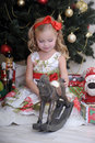 Little girl in Christmas Stock Photo