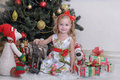 Little girl in Christmas Royalty Free Stock Image
