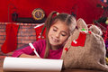 Little girl at christmas time decoration Royalty Free Stock Photo