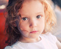 Little girl close up portrait of adorable years old Stock Image