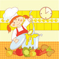 Little girl cook Royalty Free Stock Photo