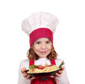Little girl cook Royalty Free Stock Images