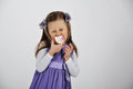 Little girl with cupcake cute in a studio eating a delicious cupcakes Royalty Free Stock Photography