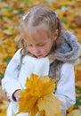 Little Girl Doing Herbarium