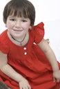 Little girl in dress Stock Photos