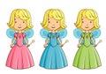 Little girl dressed as fairy