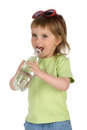Little girl drink the water Stock Image