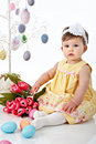 Little Girl Easter Portrait Royalty Free Stock Photography