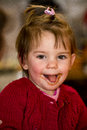 Little girl eating chocolate Royalty Free Stock Photo