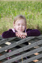 Little girl with eyes closed thinking or imagining Royalty Free Stock Photo
