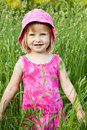 A little girl in the field Royalty Free Stock Image