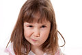 Little girl with a funny expression Royalty Free Stock Photos