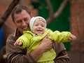 Little girl with grandfather Royalty Free Stock Photo