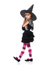 Little girl in halloween costume Stock Images