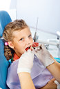 Little girl having dental checkup Stock Photos