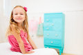 Little girl in her room portrait of adorable Stock Images