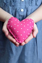 Little girl holding heart Royalty Free Stock Photography
