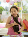 Little girl holding a kitten Royalty Free Stock Image
