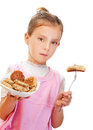 Little girl holding plate Stock Photography