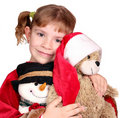 Little girl holding teddy-bear Royalty Free Stock Image