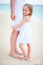Little girl hugs her mom Royalty Free Stock Images