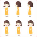 Little girl illustrations Stock Photos