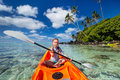 Little girl in kayak Royalty Free Stock Photo
