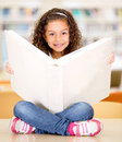 Little girl at the library Stock Image