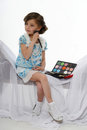 Little girl make up Royalty Free Stock Photo