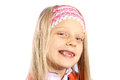 Little girl with missing front teeth Royalty Free Stock Photo