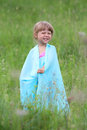Little girl on nature Royalty Free Stock Photo