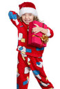 Little girl in pajamas Stock Photo