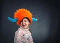 Little girl in party hat Royalty Free Stock Photo