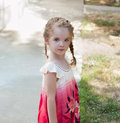 Little girl with pigtails Royalty Free Stock Image