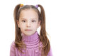 Little girl in pink sweater Stock Photos