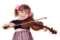 Little girl play violin Stock Image